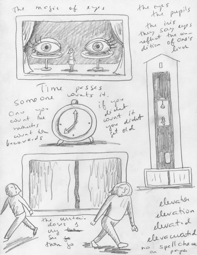 Sketch 2 for the story. Sadly obscure.